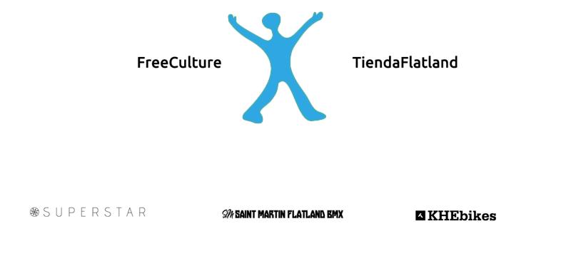 Logos Tienda Flatland y Free Culture Shop