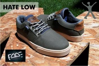 Zapatos FADE Hate Low - Verde con Crema